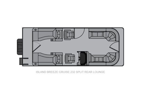 2021 Landau Island Breeze 232 Cruise Split Rear Lounge