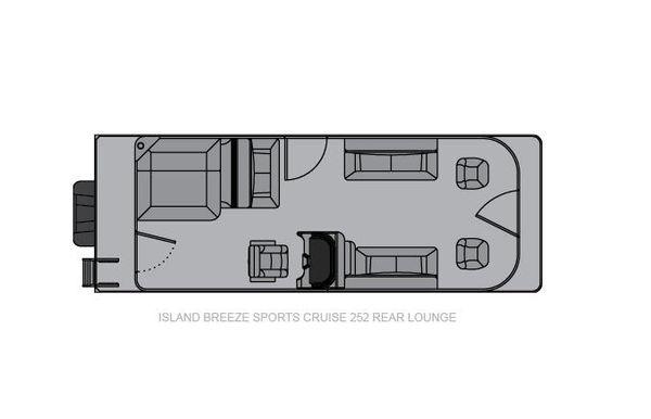 2021 Landau Island Breeze 252 Cruise Sport Cruise - Rear Lounge