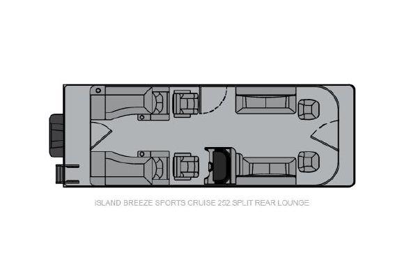 2021 Landau Island Breeze 252 Cruise Sport Cruise - Split Rear Lounge