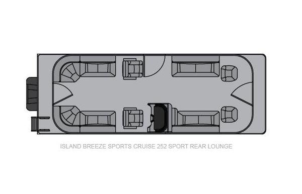 2021 Landau Island Breeze 252 Cruise Sport Cruise - Sport Rear Lounge