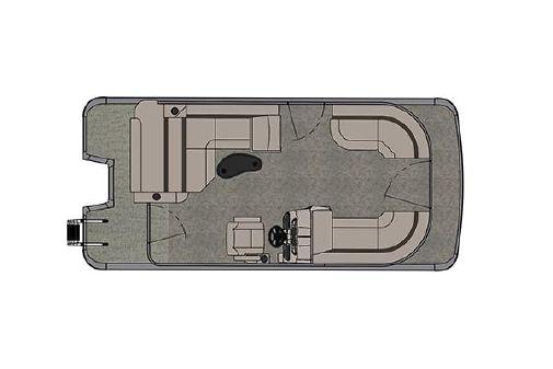 Tahoe Pontoon LTZ Cruise Rear Bench - 20' image