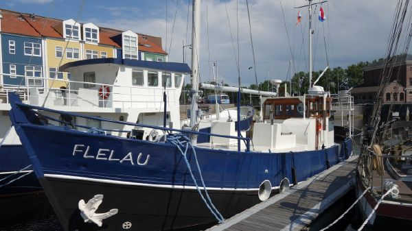 Classic converted fishing boat