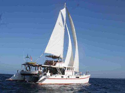 48FT Flybridge Motorsailer-Catamaran