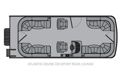 2020 Landau Atlantis 220 Cruise Sport Rear Lounge