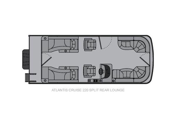 2021 Landau Atlantis 220 Cruise Split Rear Lounge
