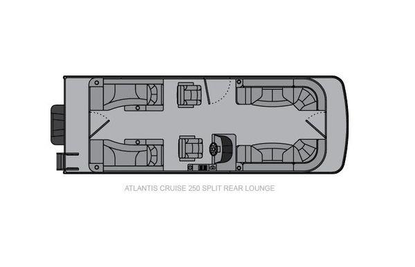 2021 Landau Atlantis 250 Cruise Split Rear Lounge