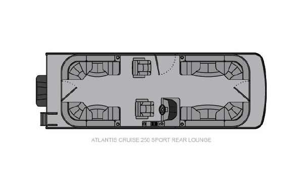 2021 Landau Atlantis 250 Cruise Sport Rear Lounge