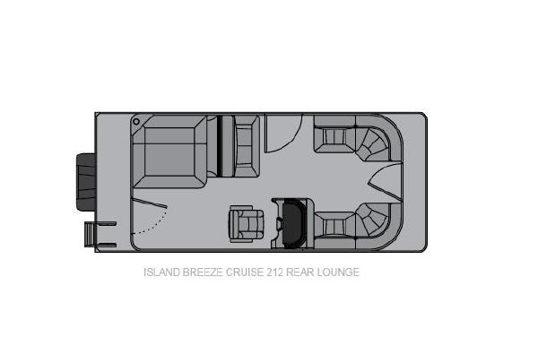 2021 Landau Island Breeze 212 Cruise Rear Lounge