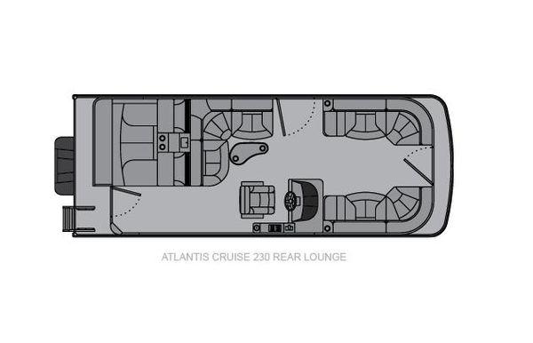 2021 Landau Atlantis 230 Cruise Rear Lounge