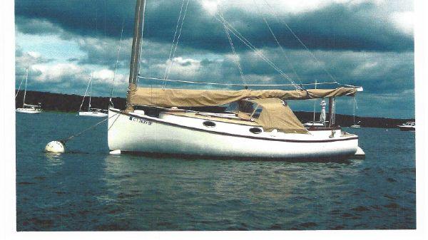 Marshall Catboat AMITY on her mooring