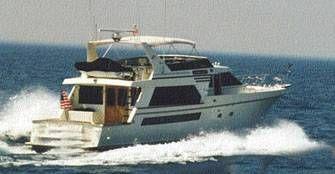 Tollycraft Flybridge Cockpit Yacht