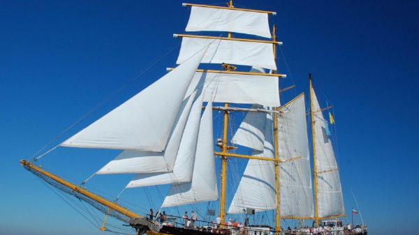 Three Mast Barquentine