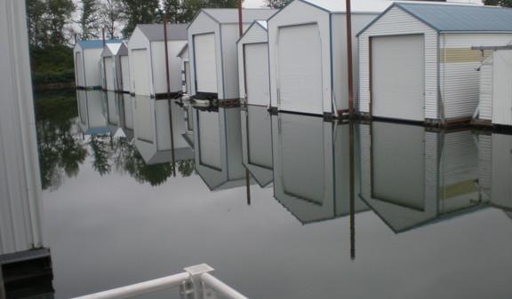 Custom Boathouse w/apartment  ONE WITH STRIPES