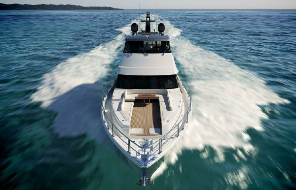 2022 Riviera 78 Sports Motor Yacht Open Bridge Deck