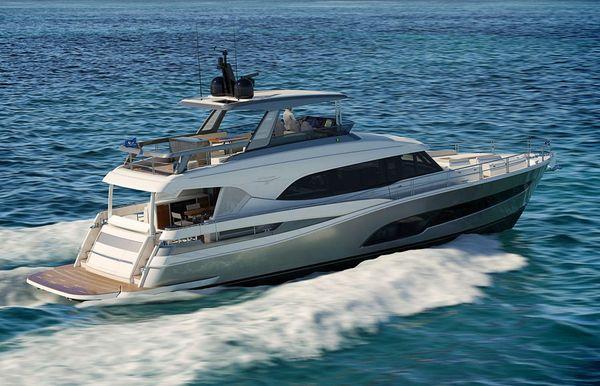 2022 Riviera 78 Sports Motor Yacht Enclosed Bridge Deck